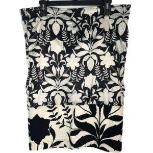 PRADA Red Label Floral Print Pencil Cut Skirt